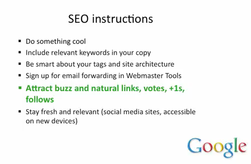 Instructions SEO de Google - AUTOVEILLE