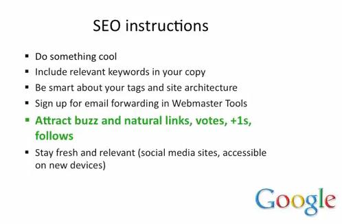 Instructions SEO de Google - AUTOVEILLE