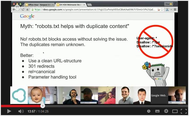 Google Hangout - Vidéo de John Mueller - AUTOVEILLE